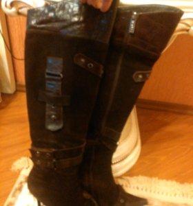 Ботфорты, обувь зимняя 37-38 р.