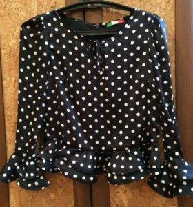 Шелковая блузка 44