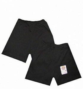 Новые чёрные шорты р.134