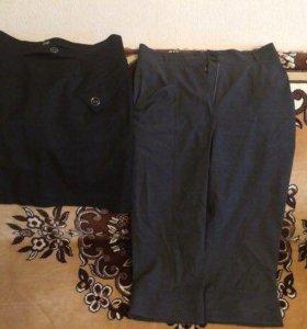 Новые брюки короткие и юбка, размер 46-48