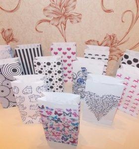 Бумажные Подарочные пакетики!