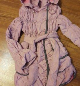 Утепленная куртка плащ