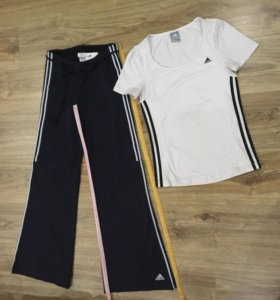 Adidas оригинал:футболка+брюки!