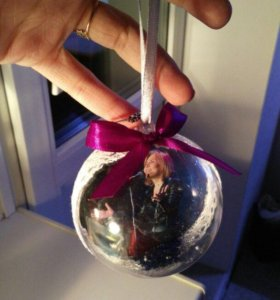 Новогодние шарики на елку с фото