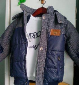Куртка детская с водолазкой в комплекте 5-6 лет