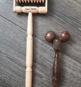 Массажеры деревянные роликовые