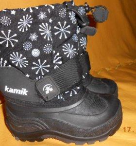 Канада. Теплые и непромокаемые сапоги Kamik.