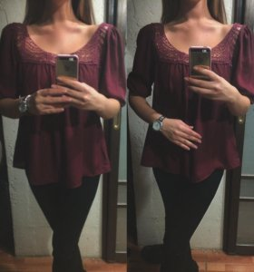 Блуза Винного цвета