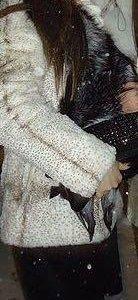 Шубка из кролика с воротником из песца рр 40-44