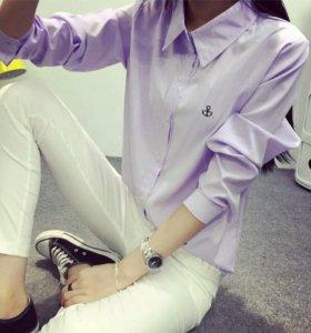 Рубашка женская лиловая