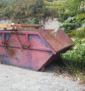 Вывоз мусора бункер 8 м3