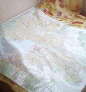 Карта города Ижевска