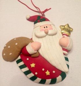Игрушка на ёлку Санта-Клаус