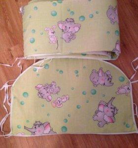 Бортики для детской кроватки