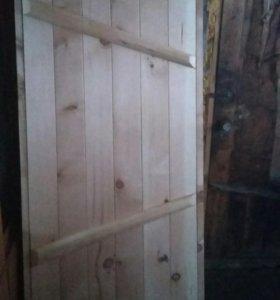Продам новую пихтовую банную дверь