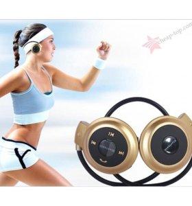 Безпроводные спортивные наушники с мр3 плеером
