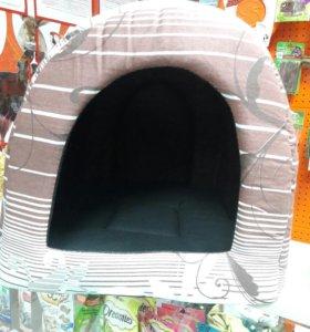 Лежак-норка со съемным матрасиком  (размер  42×35×