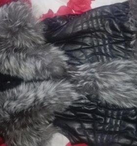 Куртка кожа трансформер зима весна