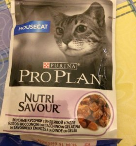 Влажный корм для кошек про-план