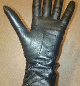 Кожаные женские перчатки р-р 6,5