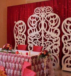 Украшение на свадьбу , резная арка.