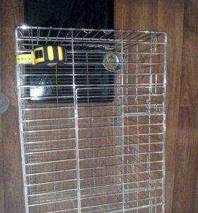 Продам клетку для дом животных железная хром
