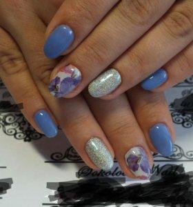 Покрытие ногтей гель-лаком/шеллаком