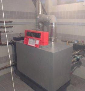 Монтаж отопления,  установка газовых котлов, обсл.