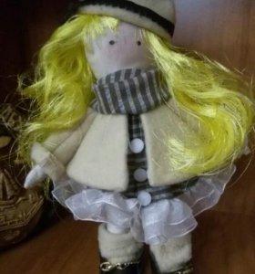 Текстильная кукла Даша ручной работы