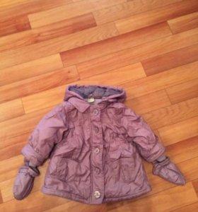 Куртка демисезонная на девочку 74-80 см