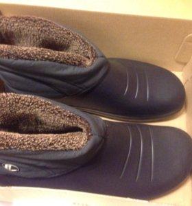 Прорезиненные ботинки