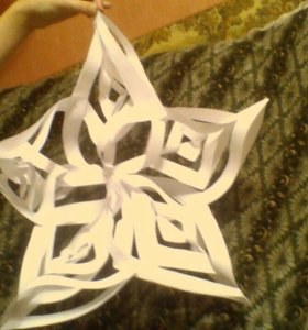 Снежинка украшение для ёлки или на стенку