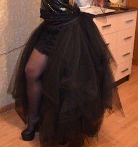 Юбка поверх платья