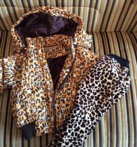 Новый демисезонный комплект (куртка, штаны) на 2 г