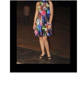 Платье гофрированное, 44-46
