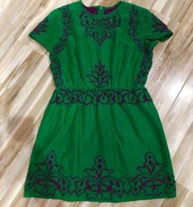 Изумрудное платье, р-р 46.