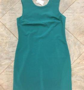 Базовое платье бирюзового цвета, р-р 48 НОВОЕ