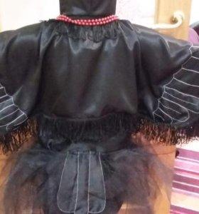 Костюм вороны на девочку 6,7 лет