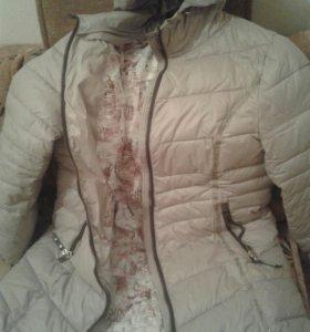 Зимняя куртка цвет светло коричневый