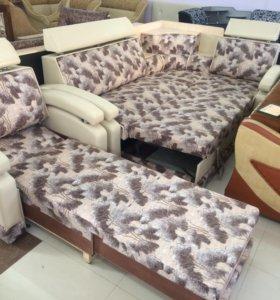 Комплект мебели диван+кресло кровать!!!