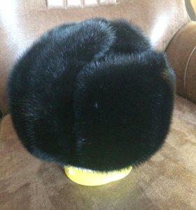 Норковая шапка (новая), ушанка