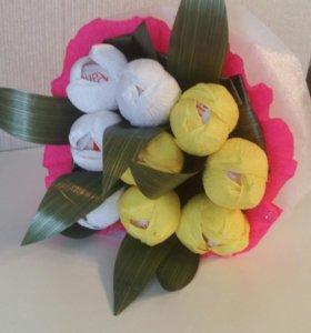 Тюльпаны.Букет из конфет
