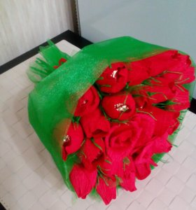 Розы.Букет из конфет