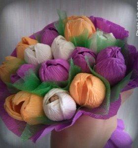 Тюльпаны. Букет из конфет