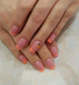Наращиввние и коррекция нарощеных ногтей