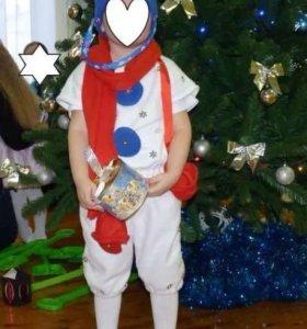 """Новогодний костюм """"Снеговик""""-прокат"""