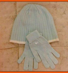 Шапка+перчатки Nike комплект