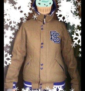 Куртка пуховка коричневая  Burton