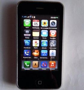 iPhone 3GS, 2 sim, копия
