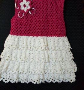 Платье сарафан. Для девочки 4-5 лет.